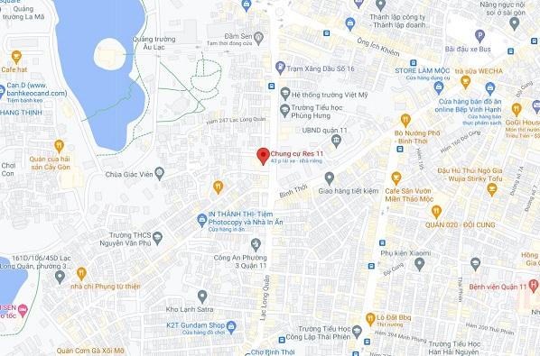 Phân tích vị trí đắc địa của chung cư Res 11