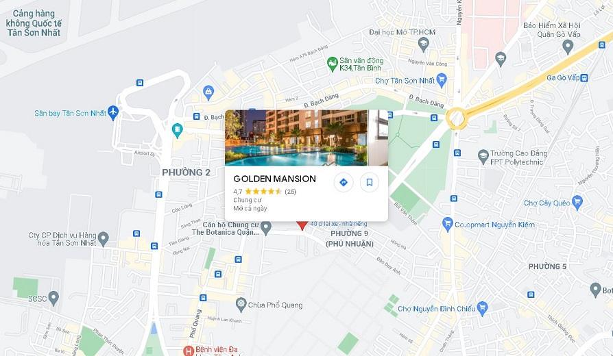 Chung cư Golden Mansion có vị trí đặc biệt